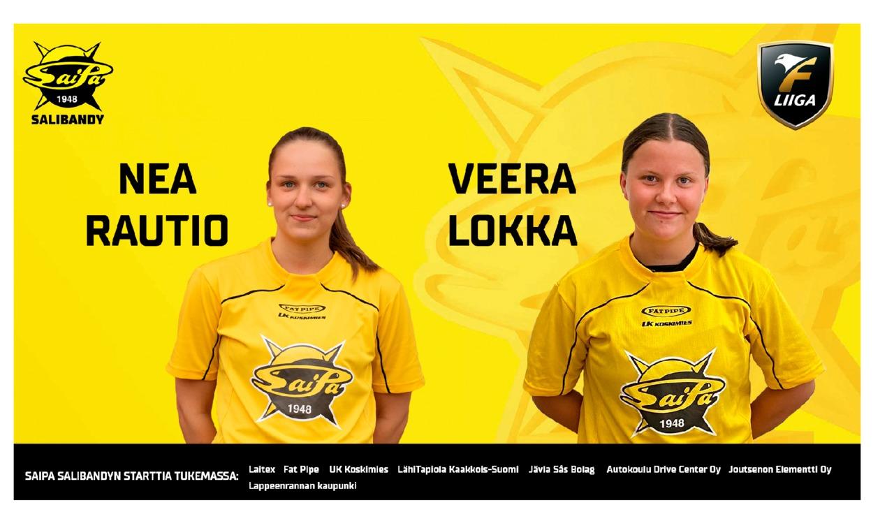 Nea Rautio ja Veera Lokka allekirjoittivat sopimukset SaiPa Salibandyn kanssa