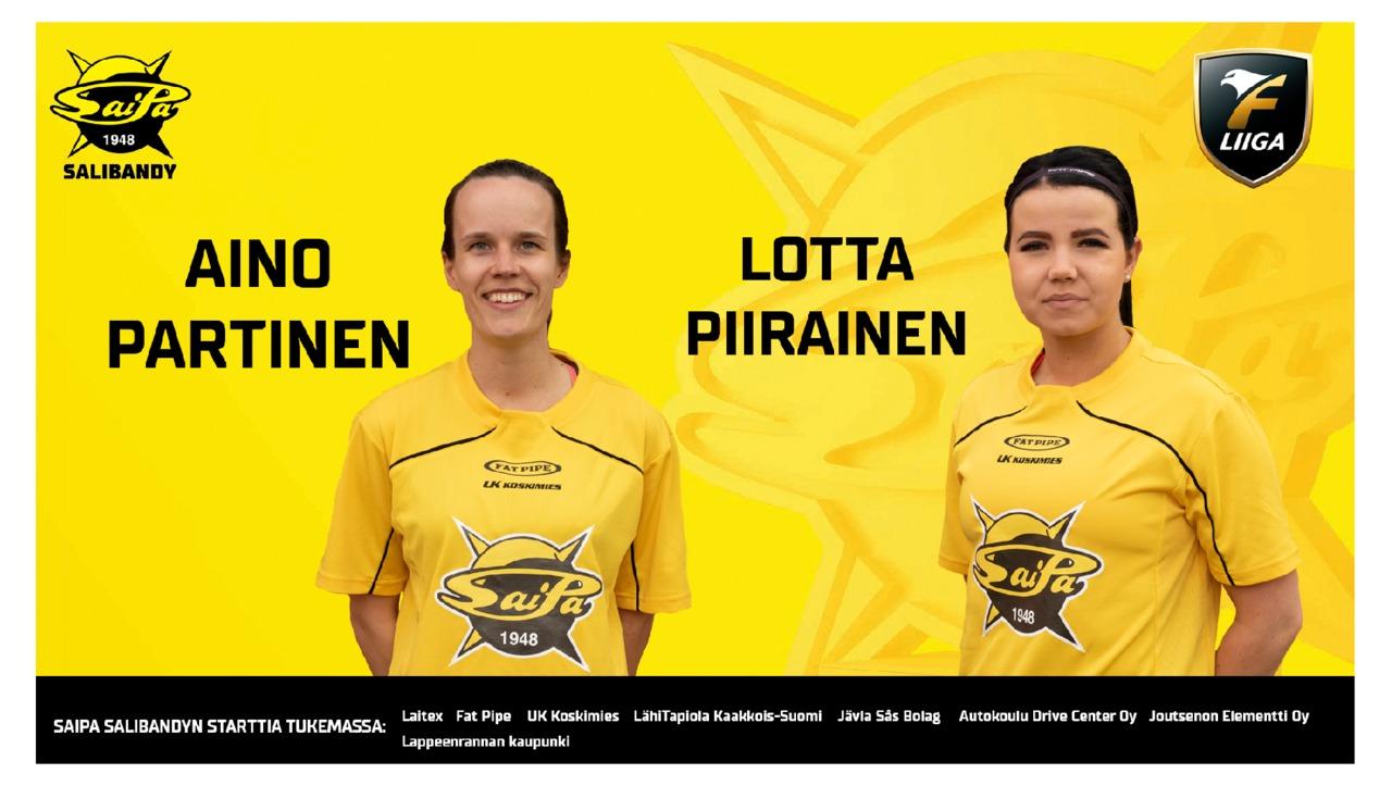 Lotta Piirainen ja Aino Partinen sopimuksiin SaiPa Salibandyn kanssa