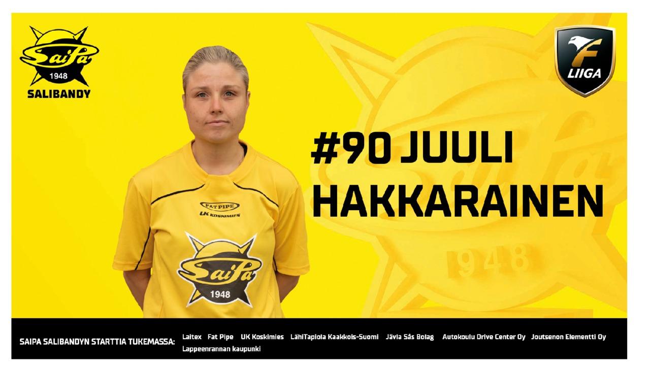 Juuli Hakkarainen tekee paluun Lappeenrantaan
