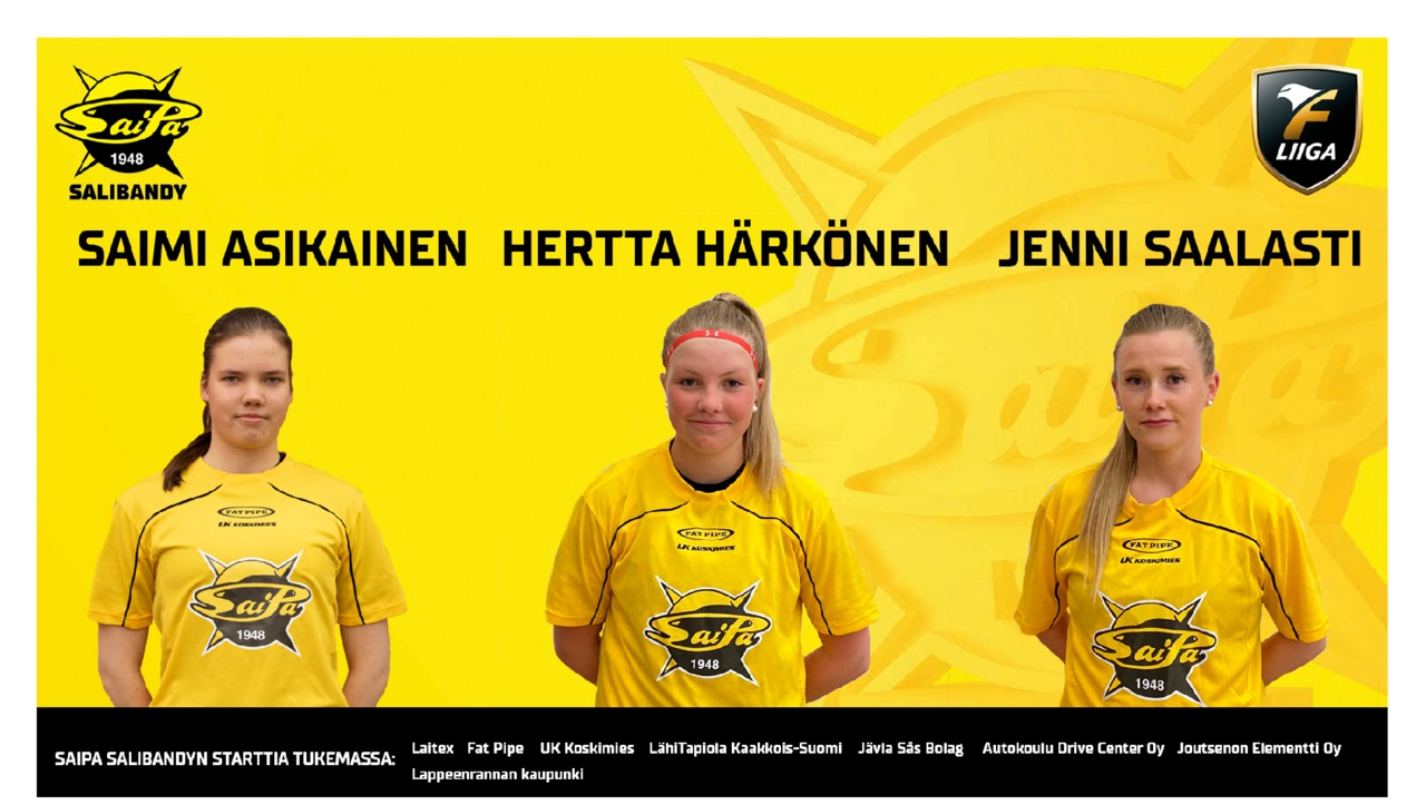 Saimi Asikainen, Hertta Härkönen ja Jenni Saalasti SaiPa-paitaan!
