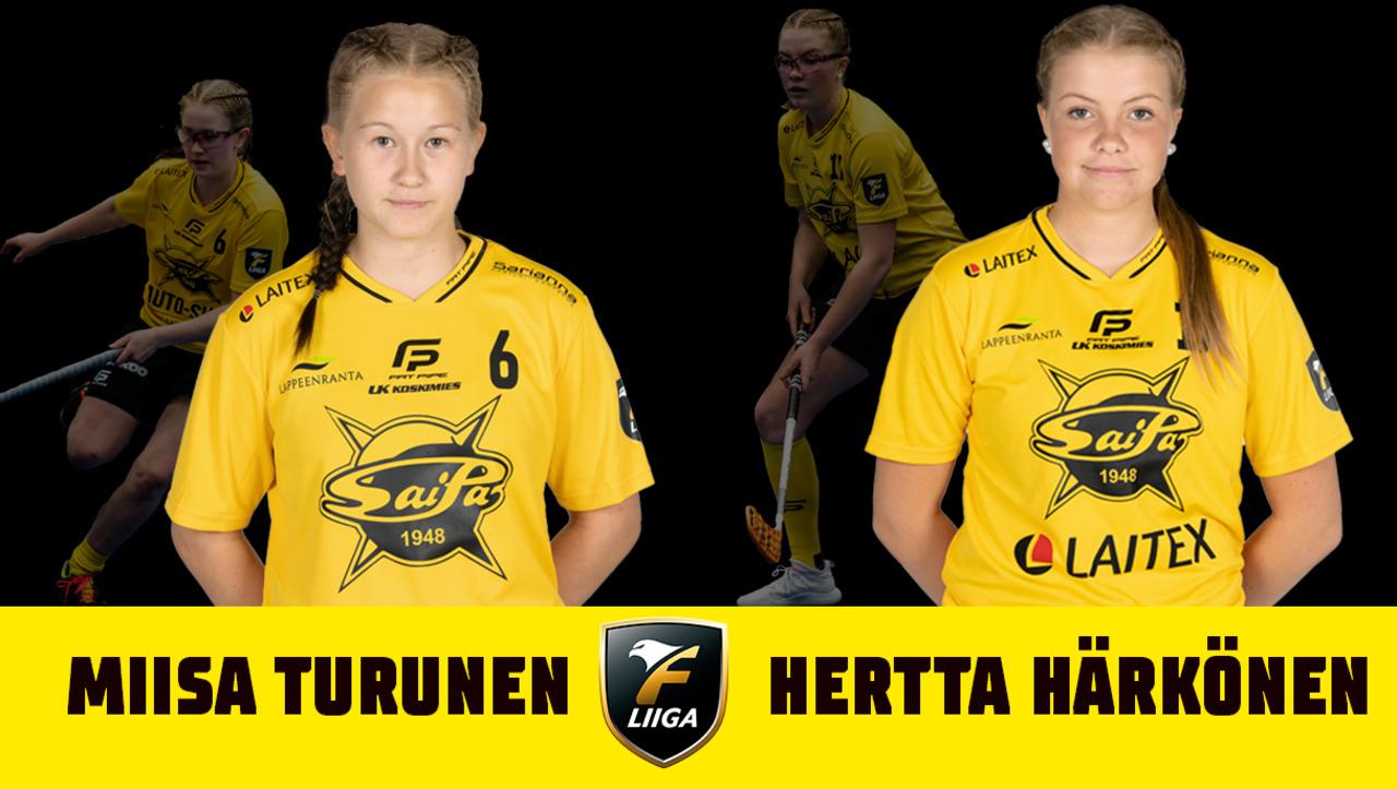 Miisa Turunen ja Hertta Härkönen jatkavat keltamustissa