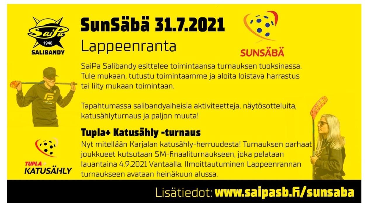 SunSäbä -tapahtuma 31.7.2021