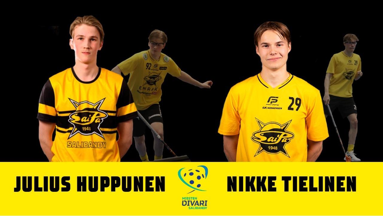 Julius Huppunen ja Nikke Tielinen tulevalla kaudella keltamustissa!