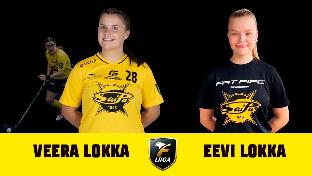 Lokan siskokset SaiPa-paidassa kaudella 2021-2022