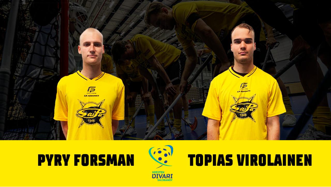 Pyry Forsman ja Topias Virolainen keltamustissa