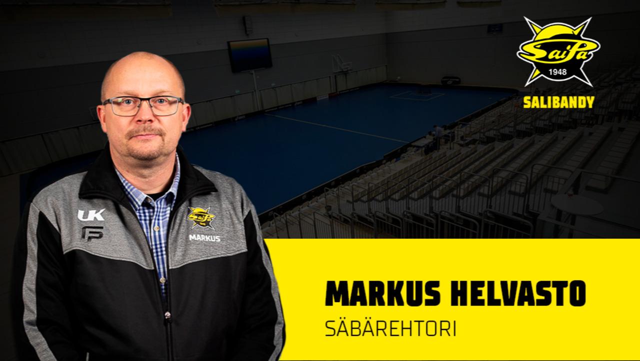 Markus Helvasto on SaiPa Salibandyn säbärehtori