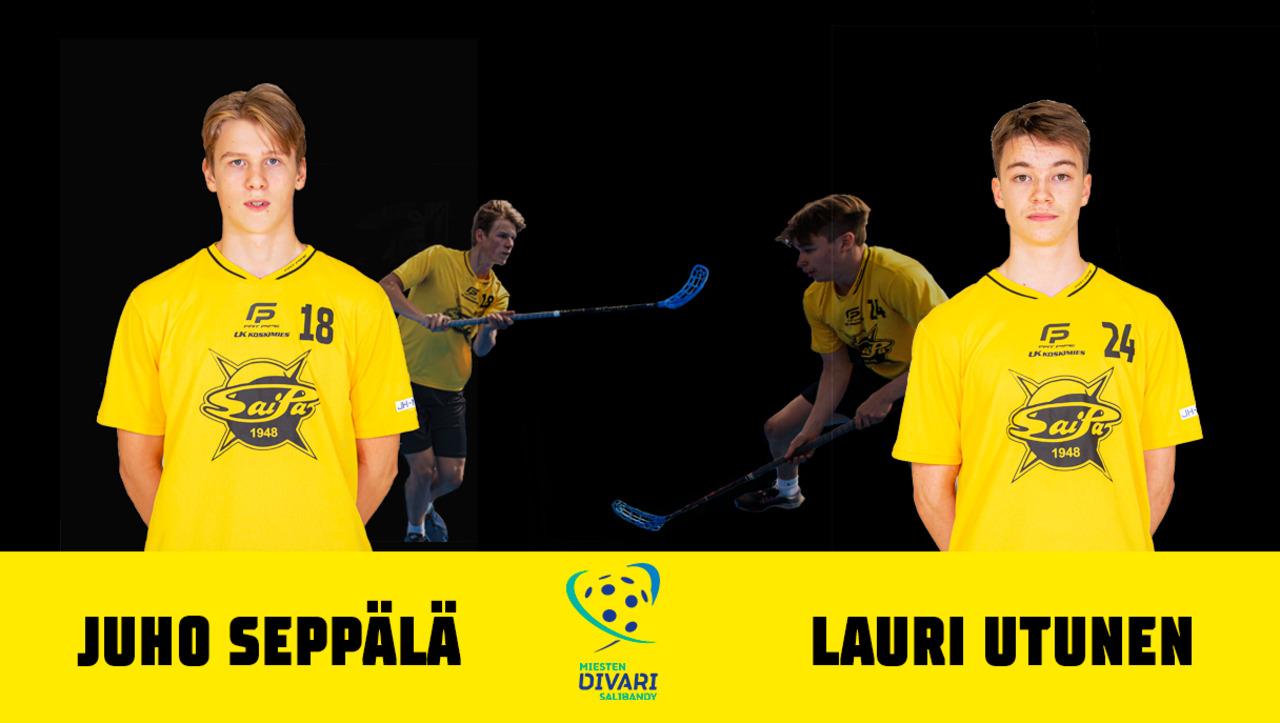 Juho Seppälä ja Lauri Utunen jatkavat keltamustissa