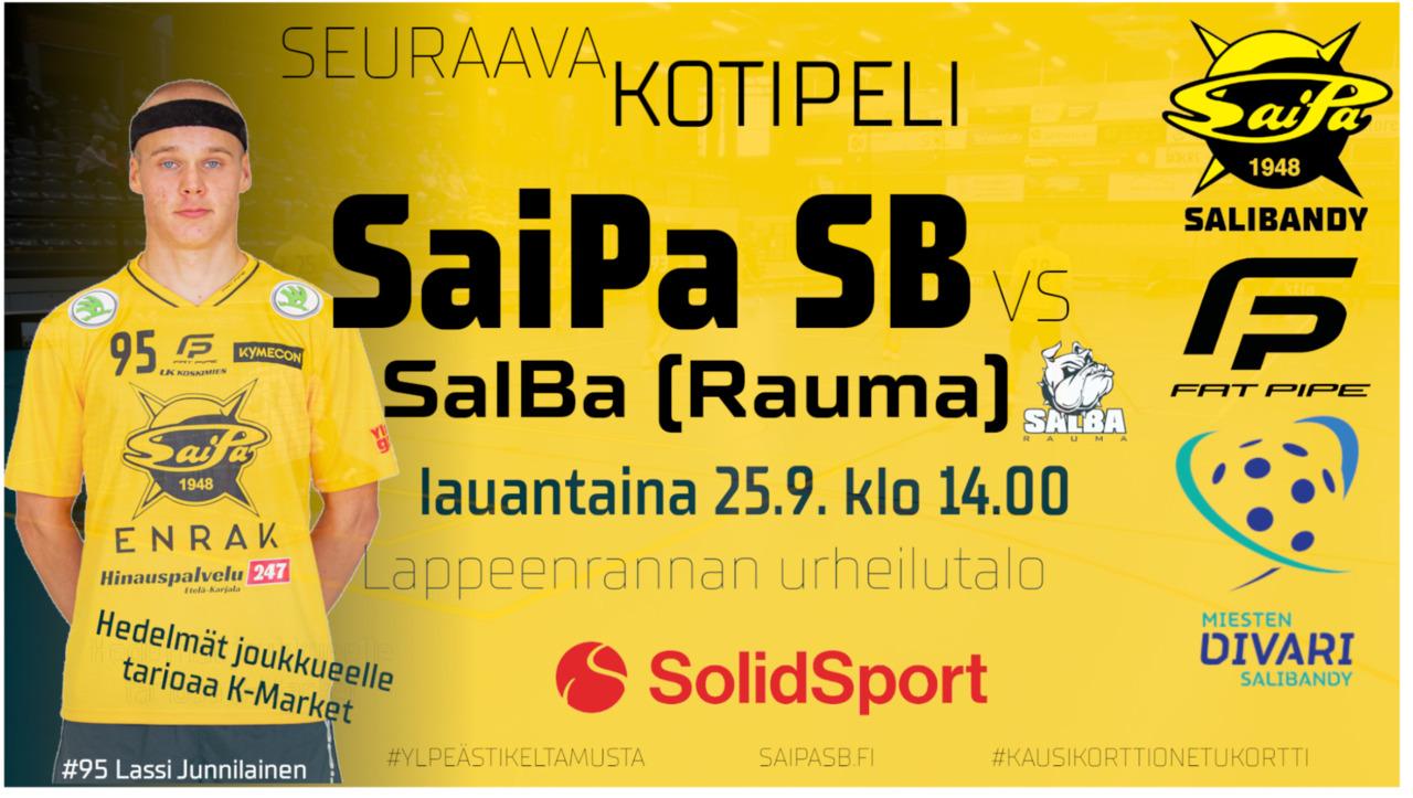 Miesten edustus jatkaa Divaria, lauantaina vastaan astelee SalBa Raumalta