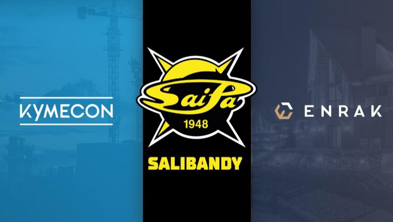 SaiPa SB miesten edustusjoukkueen päätukijana jatkaa Kymecon – Enrak myös kaudella 2021-22